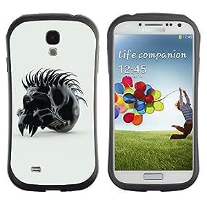 "Hypernova Slim Fit Dual Barniz Protector Caso Case Funda Para SAMSUNG Galaxy S4 IV / i9500 / i9515 / i9505G / SGH-i337 [Spiked Skull""]"