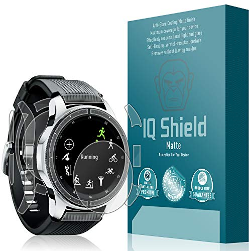 IQShield Samsung Galaxy Watch Screen Protector, Matte Full Coverage Anti-Glare Screen Protector + Full Body Skin for Samsung Galaxy Watch (46mm) Bubble-Free Film