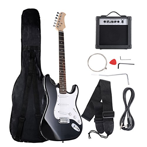 Costzon 39'' Electric Guitar, Full Size Electric Guitar with Amp, Case and Accessories Pack Beginner Starter Package, Black by Costzon