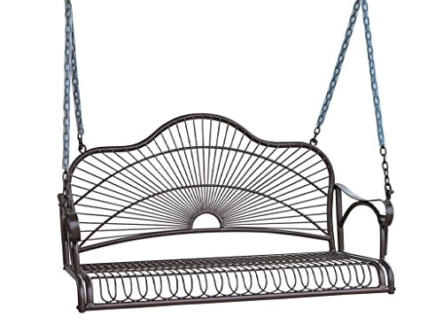 International Caravan Iron Bronze Hanging Porch Swing