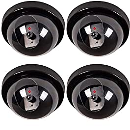 MOHAK Dummy CCTV Dome Camera with Blinking Red LED Light for Home or Office Security(Pack of 4)