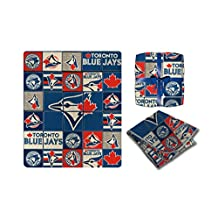 MLB Toronto Blue Jays Super-Soft High End Super Cozy Blanket / Throw