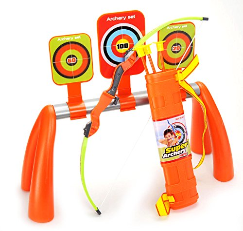 COTTONTAIL Kids Archery Shooting Set with 3 Targets and Quiver ()