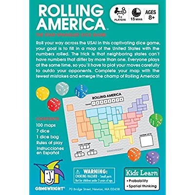 Rolling America, The Star Spangled Dice Action Game: Toys & Games