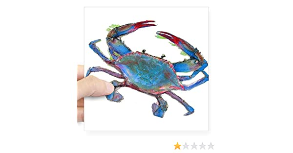 Maryland Crab Shaped Tie Dye Car Magnet