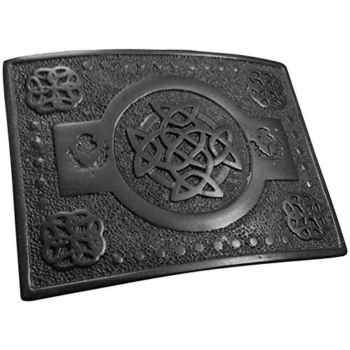 AAR Scottish Highland KILT BELT BUCKLE Celtic Knot T Work Black Finish (Celtic Kilt Pin)