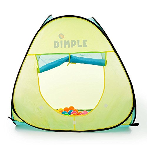 Dimple Children's Triangle Pop Up Play Tent with Set of 50 Balls