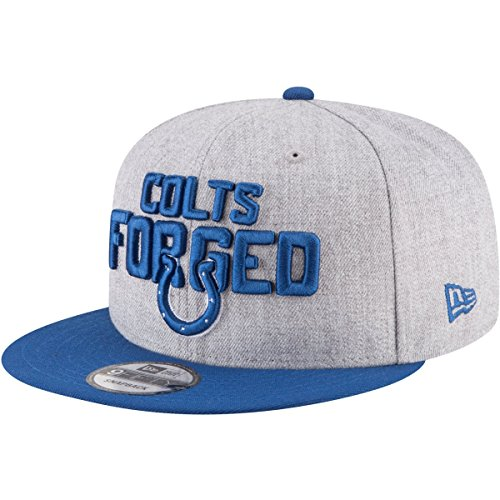 - New Era Authentic Indianapolis Colts Heather Gray/Blue 2018 NFL Draft Official On-Stage 9FIFTY Snapback Adjustable Hat