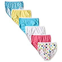 Hanes girls Toddler Girls Toddler 6-pack Brief