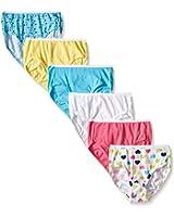 Hanes Girls' Toddler 6-Pack Brief
