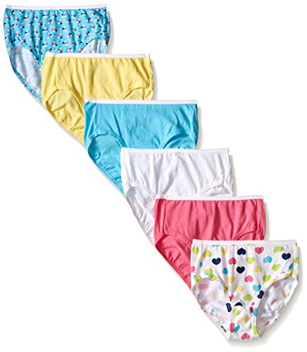 Hanes Girls' Toddler 6-Pack Brief, Assorted, 4 (Hanes Girls Underwear 4t)