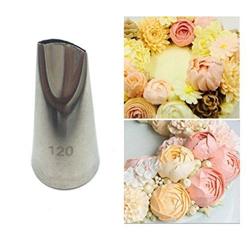 - #120 Rose Petal Metal Cream Tips Cake Decorating Tools Steel Icing Piping Nozzles Set Cake Cream Decorating Cupcake Pastry Tool