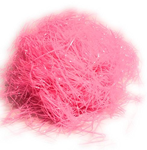 Bulk Pack of Bright Pink Easter Grass - 16 Ounces Total by BlackLabel Direct