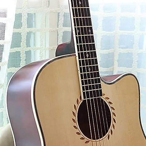 Una guitarra de madera / instrumento de cuerda: Amazon.es ...