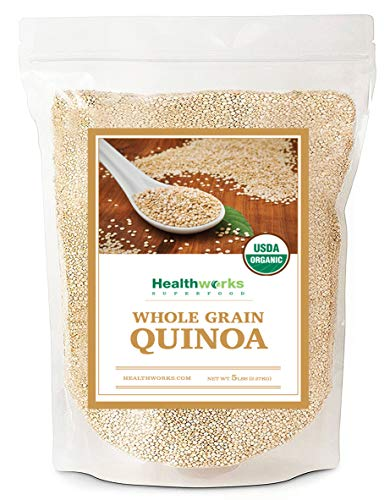 Healthworks Quinoa, Peruvian White Whole Grain Raw Organic, 5lb