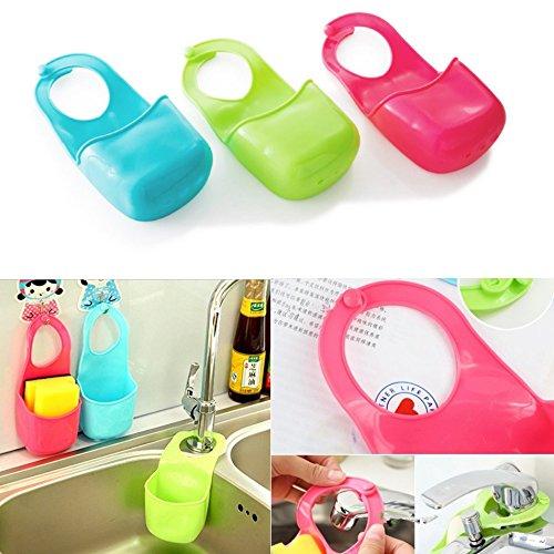 3pz creativo appeso Sink Tidy Caddy sapone spugna scrubber Brush Holder gadget per bagno e cucina AXspeed