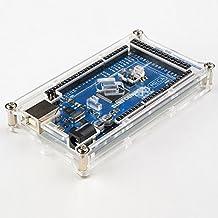 SunFounder Mega 2560 Case Enclosure Transparent Gloss Acrylic Computer Box Compatible with Arduino Mega 2560 Rev3 R3, Genuino Mega 2560 Rev3 and other Arduino Compatible Mega
