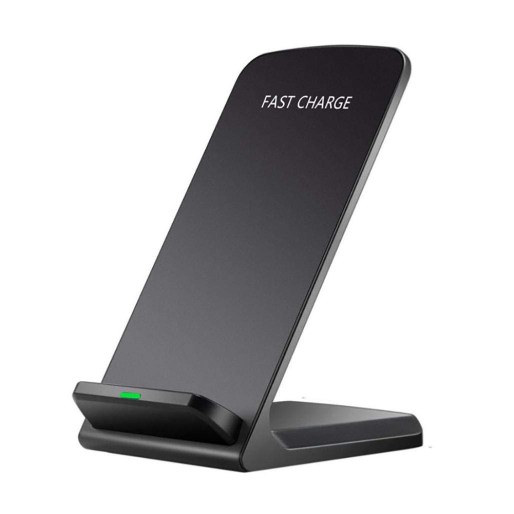 [Qi standard]3-Coils Wireless Charger Fast Charging Stand Dock For IPhone X/8/8Plus/Samsung S8/S8 Plus/S7/S7 Edge/S6 Edge/Note 9/Note 5 and Other Qi Compliant Device (Black)