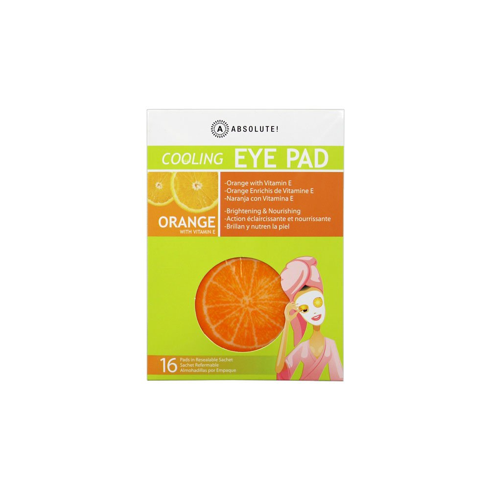Absolute Cooling EYE PAD Orange Brightening & Nourishing 16 Pads