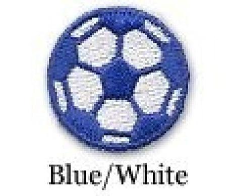 Balón de fútbol de hierro en parche azul/blanco paquete de 10 ...