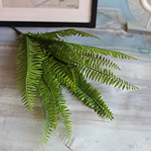Artificial Boston fern with 15 fronds, artificial green plant / Silk plant 4