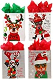 DDI 2127450 Classic Tall Furry Christmas Pals Matte Gift Bag - Case of 144
