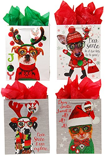 Pal Furry (DDI 2127450 Classic Tall Furry Christmas Pals Matte Gift Bag - Case of 144)