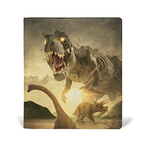 ColourLife Leather Book Covers for Textbooks Hardcovers Huge Dinosaurs School Books Protector 9 x 11 Inches by ColourLife