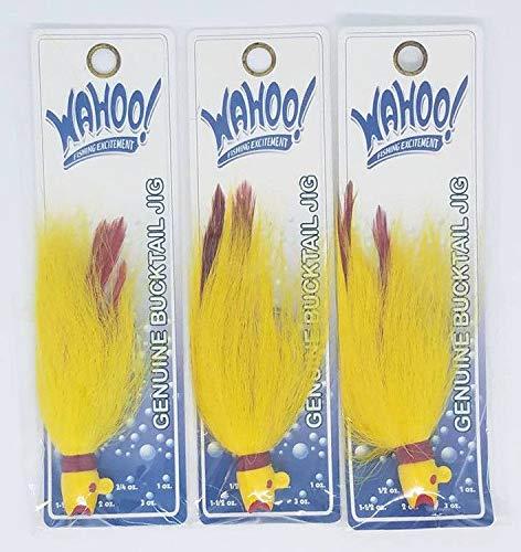 Wahoo (LOT of 3) 3/4oz Genuine Bucktail Jigs (WAH-LBJ34-29)