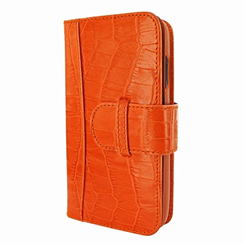 Piel Frama 793 Orange Crocodile WalletMagnum Leather Case for Apple iPhone X