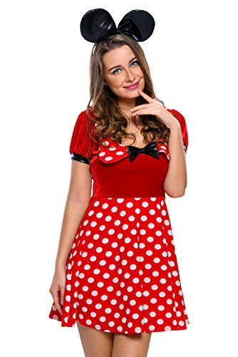 [Razztwist Soft Mouse Dress Costume (Small, Red)] (Mickey Dress)