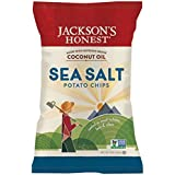 Jacksons Honest Sea Salt Potato Chips Non Gmo, Pack of 36