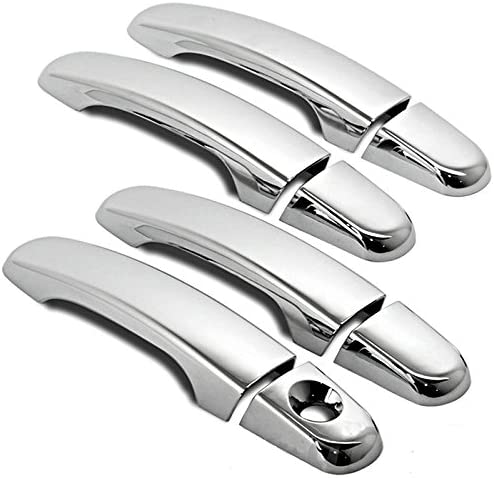 ABS Chrome Adhesive Door Handle Covers Caps Set For 08-12 Chevy Chevrolet Malibu