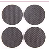 4 in Pack Black Protective Furniture Table Chair Foot Square PadsFloor Savers Round