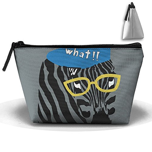 Fengyaojianzhu Zebras Portable Make-up Receive Bag Storage Capacity Bags For Travel With Hanging ()