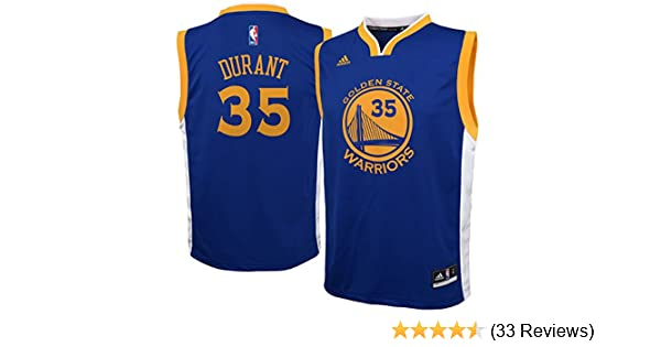 Amazon.com : adidas Kevin Durant Golden State Warriors Blue Youth Replica Jersey : Sports Fan Jerseys : Sports & Outdoors