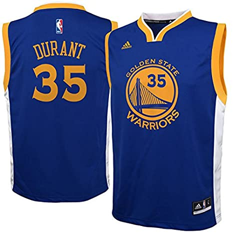 Kevin Durant Golden State Warriors NBA Youth Adidas Replica Blue Jersey, Large (14-