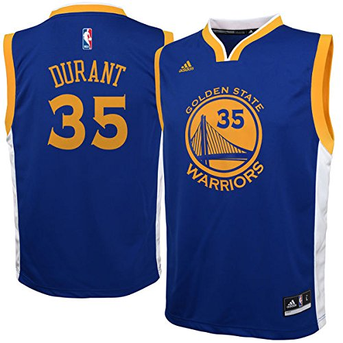 Kevin Durant Golden State Warriors NBA Youth Adidas Replica Blue Jersey, X-Large (18-20) (Replica Nba Adidas Jersey Youth)