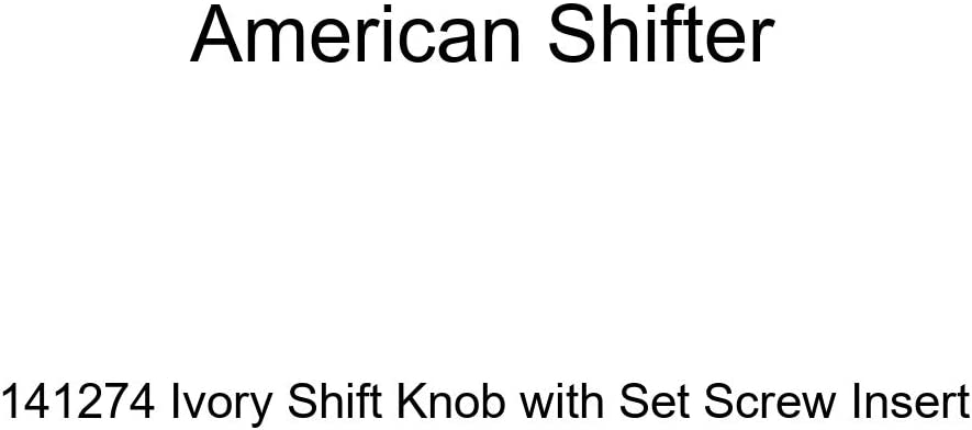 American Shifter 141274 Ivory Shift Knob with Set Screw Insert