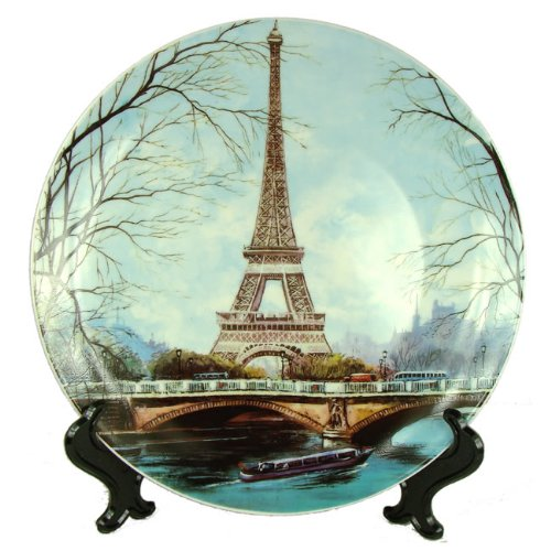 (Souvenirs of France - Large Eiffel Tower Plate)