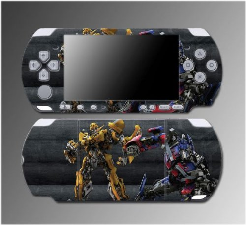 Transformers Bumblebee Optimus Prime Video Game Vinyl Decal Sticker Cover Skin Protector 5 for Sony PSP Slim 3000 3001 3002 3003 3004 Playstation Portable, Best Gadgets