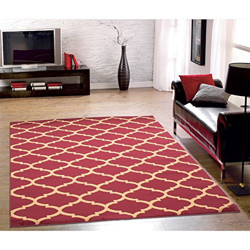 Ottomanson Royal Collection Contemporary Moroccan Trellis Design Area Rug, 5'3