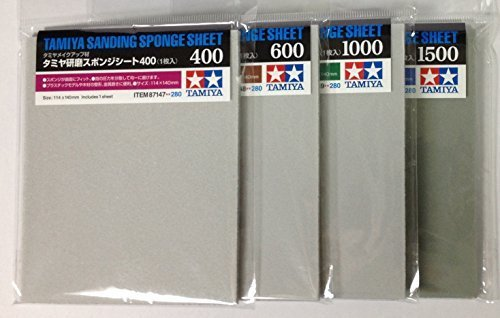 TAMIYA Sanding Sponge Sheet 4-type(#400,#600,#1000,#1500) Set from Playkids