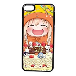 Grouden R Create and Design Phone Case, Himouto Umaru-chan Anime Cell Phone Case for iPod touch 6 Black + Tempered Glass Screen Protector (Free) LPC-0647124