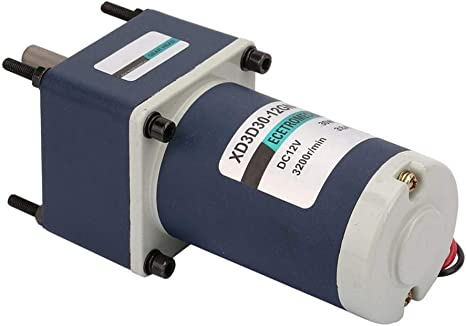 Beennex 12V//30W Electric Permanent Magnet DC Gear Motor 3000//3200RPM Reduction Geared Motor #6