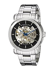 Stuhrling Original Men's 387.3311 Classic Delphi Antium Automatic Skeleton Black Dial Watch