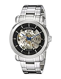 Stuhrling Original Men's 387.3311 Classic Delphi Antium Automatic Skeleton Black Dial Watch