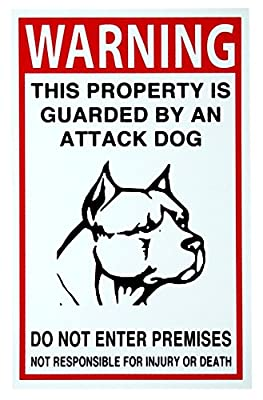 "1 Pc Splendid Popular Security Beware Dog Signs Keep Out No Trespassing Anti-Burglar Size 7"" x 10"""
