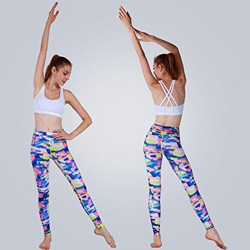 JIALELE Yogahose Das Mädchen Uniform_Stempel Yoga Hose Frauen Tragen Enge Tanz
