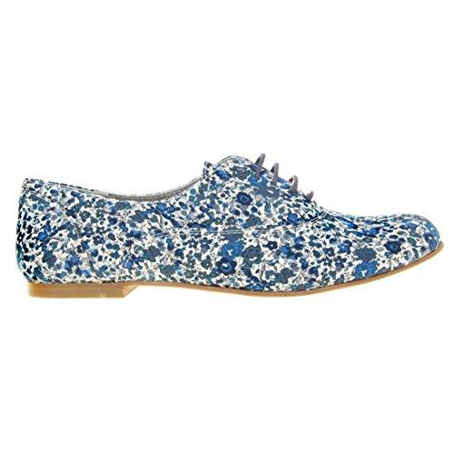 Derbys Vintage Femme Bleu flow marine Ippon Chaussures Zoom w1xW6P